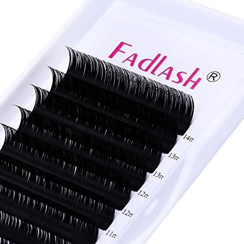 Lash Extensions FADLASH Eyelash Extensions C/D Curl Lash Tray Classic Lash Extensions 0.20 8-20mm Length Supply Silk Lashes (0.20-C, Mix Tray 8-14mm)