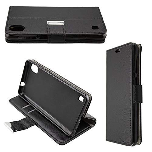 caseroxx Handy Hülle Tasche kompatibel mit ZTE Blade A530 Bookstyle-Hülle Wallet Hülle in schwarz