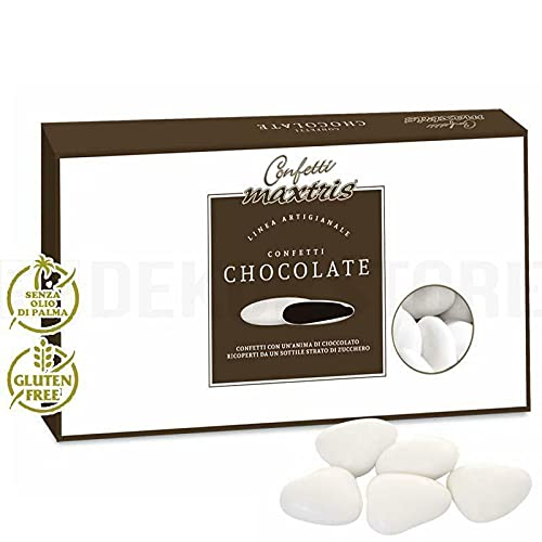Confetti Maxtris Confetto Fondente Cuore Tesorini Bianchi, Cioccolato
