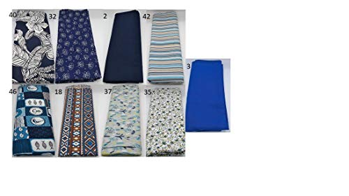 Stoffpaket blau verschiedene Größen Baumwolle Stoffreste Webware Patchen Patchwork Baumwollstoff Restepaket unifarben einfarbig uni Anker maritim Blumen floral Ranken Bohemian