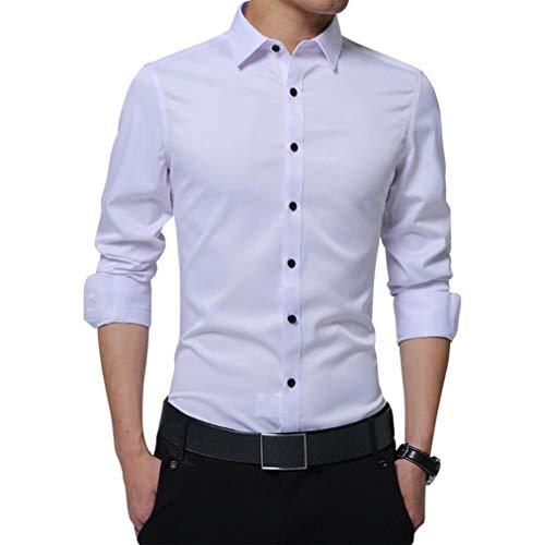 Irypulse Camisa de Hombres Corte Cuello Camisa de Planchado sin Arruga