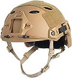 LOOGU Airsoft Helm Fast PJ Taktischer Helm Ops Core Schutzhelm mit Pads Sturzhelm für Freizeit Outdoor Paintball Tactical Top Helmet