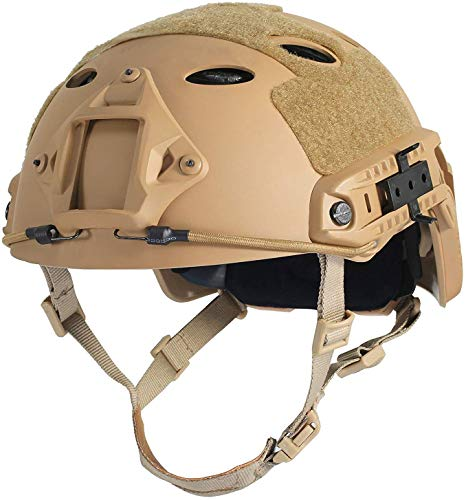 LOOGU Airsoft Helm Fast PJ Taktischer Helm Ops Core Schutzhelm mit Pads Sturzhelm für Freizeit Outdoor Paintball Tactical Top Helmet