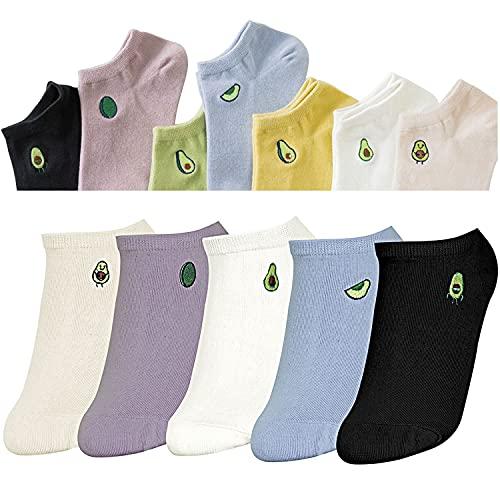 sigando Damen Socken aus Baumwolle Tier Charakter Design, Atmungsaktiv Komfortable, 5 Paar M-F