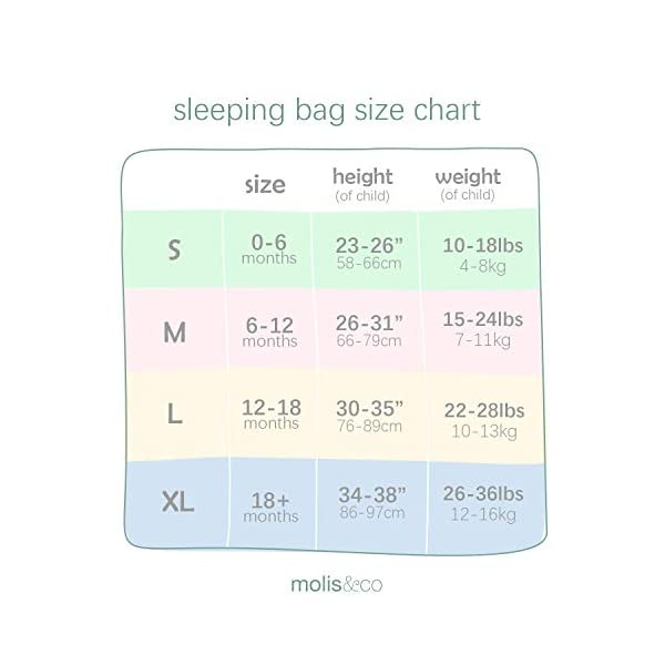 Sleeping Bag Baby 0 – 6 Months, 1 TOG Super Soft and Cozy Wearable Blanket for Baby,Candy – Pink. Ideal for All Seasons . 100% Organic Cotton Lightly Padded.