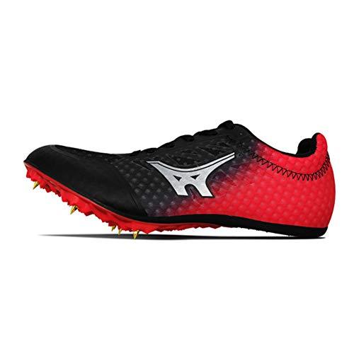 Männer Frauen Leichtathletik Schuhe, Junioren Sprint Spikes Unisex Leichtlauftrainingsschuh, Lace Up Atmungsaktive Wettbewerb gewidmet Sportschuhe,Schwarz,36