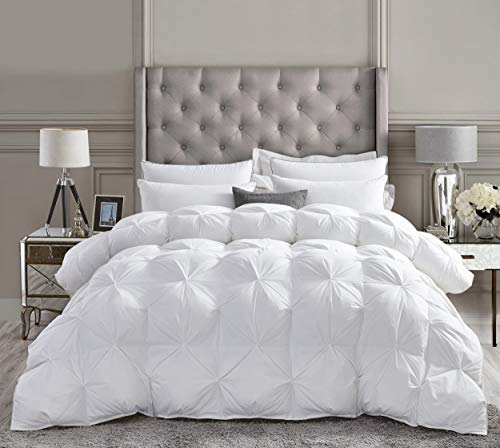 Luxurious All-Season Goose Down Comforter Queen Size Duvet Insert, Exquisite...