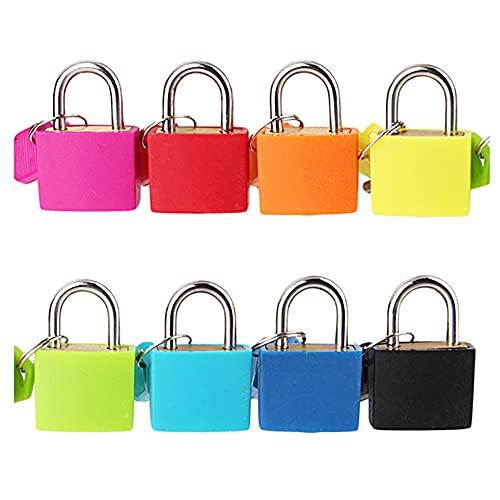 ANCLLO - Lucchetto piccolo con chiave per lucchetto per bagagli, zaino, palestra, armadietto, valigia, ecc.