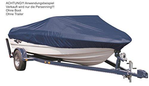 EXCOLO Boot Schutz Plane Abdeckung Persenning Haube Hülle in Marine Blau Grau Boote Bootabdeckung Bootplane (Marine Blau, Typ S/L max 4,90m / B max 2,30m)