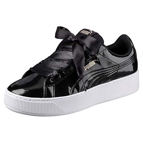 Puma Damen Vikky Platform Ribbon P Sneaker, Schwarz Black Black, 39 EU