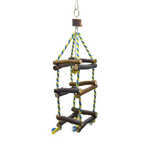 Parrot Ladder Toy, perfecthome Kauenspielzeug Klettergerüst Leiter Bird Perches Swing Toys Hängende Spielsachen für Vogel Papagei African Grey Macaw Budgie Parakeet Cockatiel Cockatoo