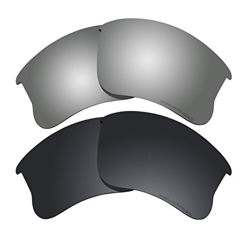 Polarized Lens Replacement Fit for Oakley Flak Jacket XLJ Sunglass 2 Pairs of Lenses Pack N18