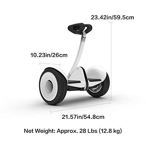 Segway Ninebot S Smart Self-Balancing Electric Scooter with LED light, Portable and Powerful, White