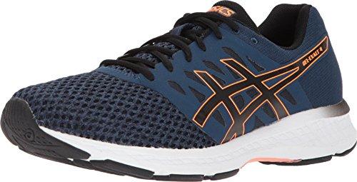 ASICS Men's Gel-Exalt 4 Running Shoes, 10M, Dark Blue/Black/Shocking Orang