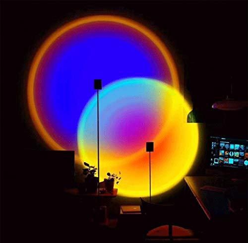 XXVH Lampada da Terra a LED con Proiezione Arcobaleno, Lampada D'angolo per Camera da Letto Che Cambia Colore RGB Dimmerabile, Lampada per Atmosfera Familiare con Decorazioni Natalizie 1.8m