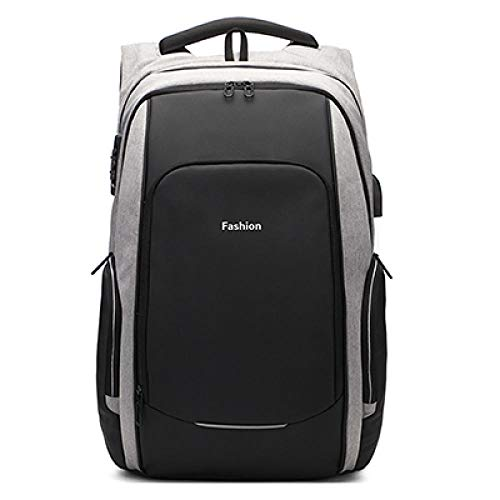 17/15.6 inch Travel Laptop Backpack Anti Theft Laptop Backpack USB Charging Port Water Resistant College School Bag Men Women Gray 15.6 inch