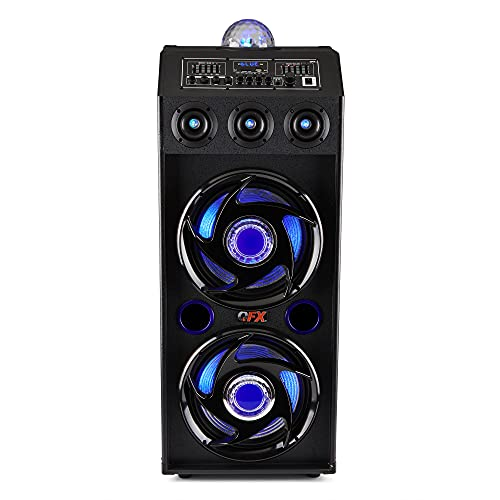 QFX SBX-412207BT Bluetooth Speaker with Built-in Amplifier, Blue
