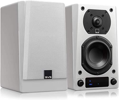 powered wireless speakers SVS Prime Wireless Powered Speaker System - Pair (White Gloss)