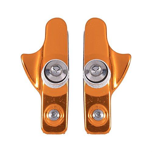 Zunate 2 stücke v bremsbeläge Fahrrad, schublade Stil v bremsklötze rennrad bremsbeläge rennrad bremsbacken rennrad bremsbacken aus aluminiumlegierung für Mountainbike für rennrad(Gold)