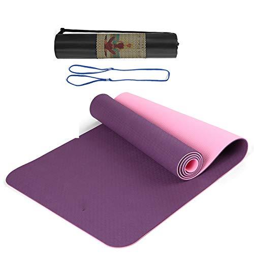Cómodo de usar Alfombra de yoga, estera de yoga duradera transpirable antideslizante de 8 mm de grosor, tapete de yoga de espuma TPE gruesa para deportes en interiores Equipo de aptitud física Adecuad
