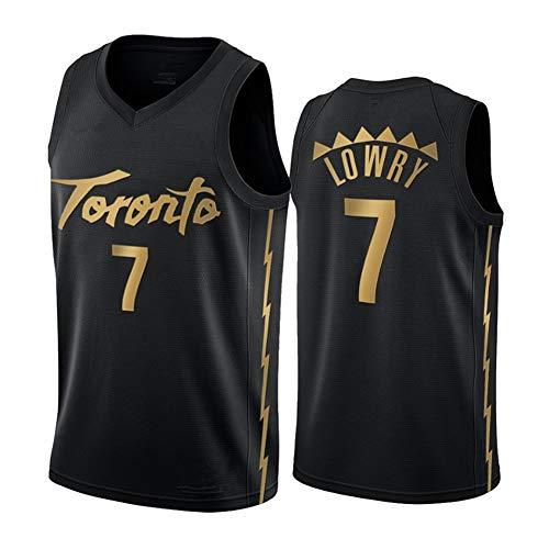 YSNS Lowry Toronto #7 Herren Basketball Trikot Retro Klein Mesh Jersey Männer Mesh Athletic Top Workout und Training Activewear (S-2XL) Gr. XXL, farbe