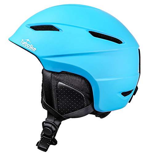 TurboSke Ski Helmet, Snowboard Helmet Snow Sports Helmet, Audio Compatible Helmet for Men, Women and Youth (M, Blue)