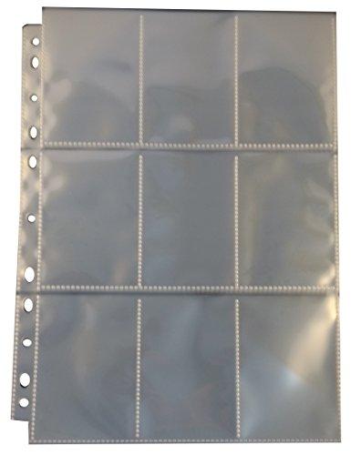 Arkero-G® 10 Premium Pro 9-Pocket Pages - Yu-Gi-Oh! japanische Größe - Ordnerseiten für Sammelmappe & Sammelkarten Tausch-Album