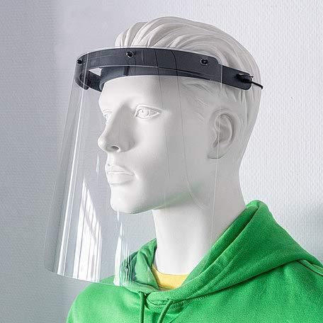 (10 Stück) Gesichtsschutz Spuckschutz Visier PET hochtransparent (Made in Germany)