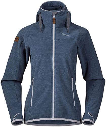 Bergans Hareid Fleece Jacket Women Größe XL fogblue Melange