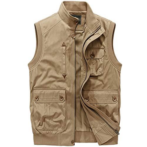 CWT-Westentasche - Angel-Bekleidung für Jungen in Khaki, Größe XX-Large