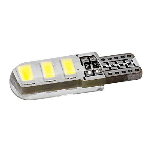 Ligero T10 W5W WY5W 192 168 6 SMD 5630 5730 LED Bombilla de sílice Gel de sílice Impermeable Cuña Clear Silicone Shell Coche Gire Light Light Lámpara (Emitting Color : Yellow)