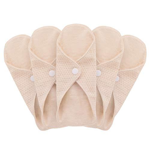 Mqupin Serviettes hygiéniques réutilisables - En coton biologique - Pour femme - Lavable - Anti-fuite - Convient pour toutes les femmes