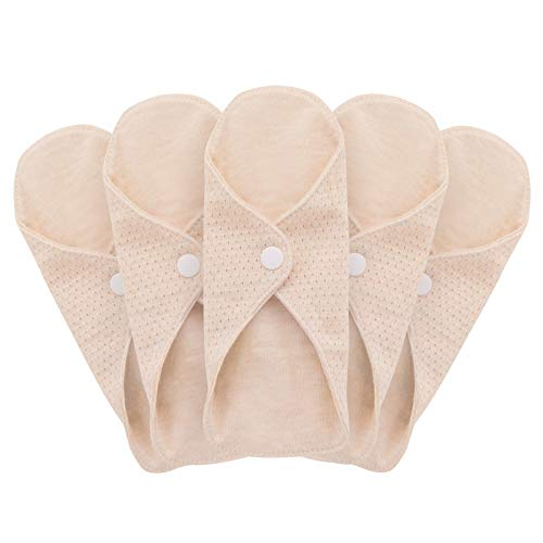 MQUPIN - Assorbenti igienici riutilizzabili, da donna, in cotone biologico, lavabile, fodera per mutandine, design a prova di perdite, adatto a tutte le donne