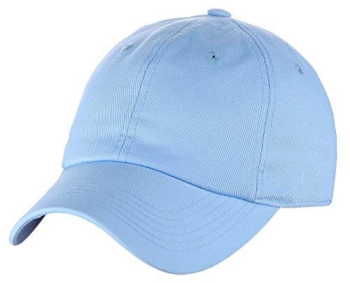 C.C Unisex Classic Blank Low Profile Cotton Unconstructed Baseball Cap Dad Hat Light Blue