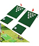 SPRAWL Cornhole Outoor Golf Game Golf Pong Set Golf Chipping Boards Golf Practice Training Aid Great Backyard Game for Your Family and Friends