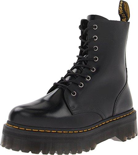 Dr. Martens, Jadon 8-Eye Leather Platform Boot for Men and Women, Black Polished Smooth, 13 US Women/12 US Men
