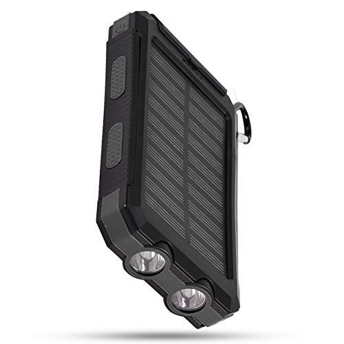 SANON Solar Power Bank 10000Mah Ladekoffer Tragbare Outdoor-Hochleistungs-Schnelllade-DIY-Kit mit Kompass Dual-USB-Backup-Batterie für Mobiltelefon