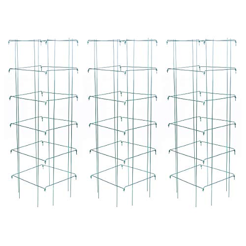 Burpee Large Heavy Gauge Tomato 3 Cages | 14' x 14' x 48' | Made in The...