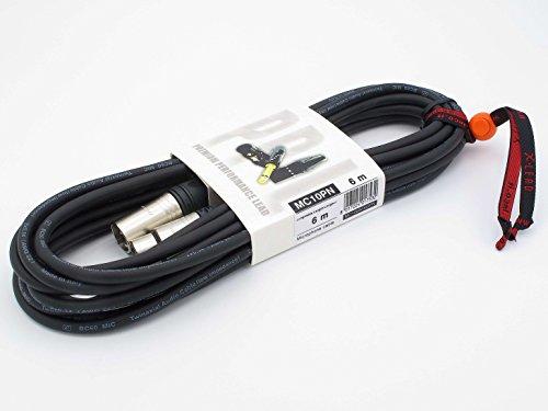 X-LEAD MC10PN060BK serie PLATINUM - Cavo microfonico professionale di alta qualità - XLR/XLR - cavo bilanciato - connettori originali NEUTRIK - (6 m, nero) - MADE IN ITALY by INCO