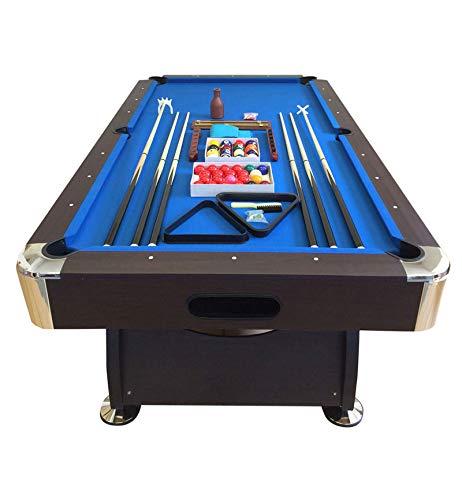 GRAFICA MA.RO SRL Mesa de Billar Juegos de Billar Pool 8 ft Modelo Vintage Azul Completo de Accesorios Carambola Medición de 220 x 110 cm Nuevo EMBALADO