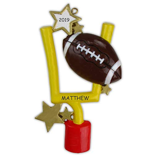 DIBSIES Personalization Station Personalized Football Sports Christmas Ornament