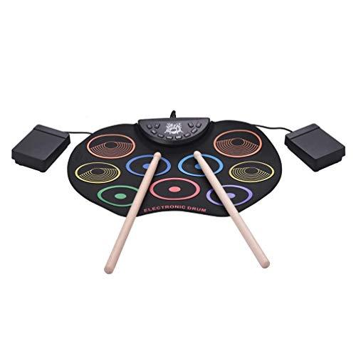 Equipo de batería eléctrica portátil de batería digital, Roll-Hasta Drum Set Electronic...
