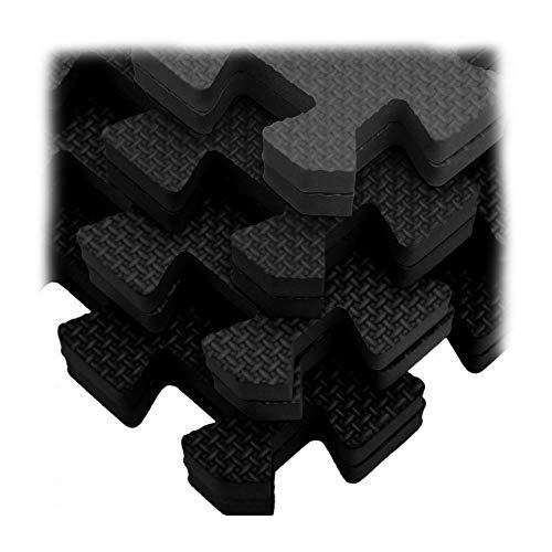 32 SQ FT Interlocking EVA Soft Foam Exercise Floor Mats Gym Kids Garage House Home Office Mat Resistant Surface Safe Waterproof Durable Yoga