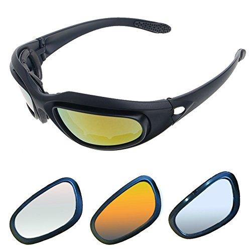 Kit de óculos de motocicleta com 4 cores de lente. Kit de troca fácilGET LOST 1 pack preto GLK1