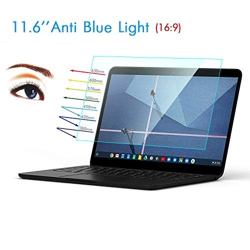 """Lapogy 2 PCS 11.6 Inch Anti Blue Light and Anti Glare Filter Laptop Screen Protector, Eye Protection Protector for Acer Chromebook R11/ASUS Chromebook 11.6"""" Laptop etc,Laptop Accessories Display 16:9"""