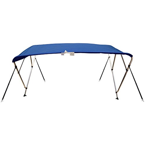 Naviskin Pacific Blue3 Bow 6'L x 46' H x 54'-60' W Bimini Top Cover Includes Mounting Hardwares,Storage Boot with 1 Inch Aluminum Frame