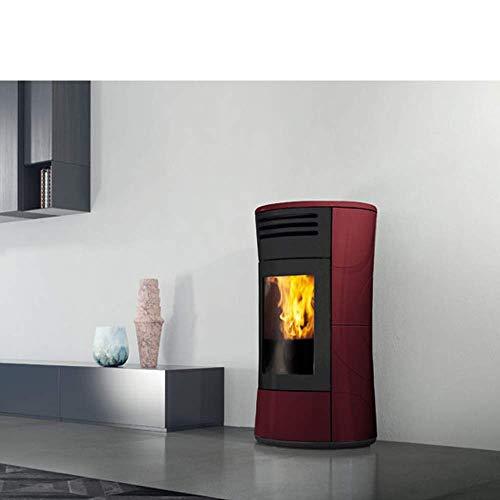 Edilkamin Pelletofen Cherie Up | Keramik bordeaux | 11 kW