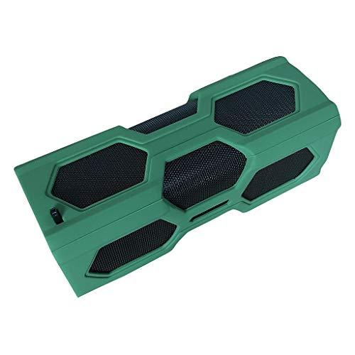 DKee. Grün Tragbarer BT 4.2 drahtlose Lautsprecher wasserdicht Mobile Stromversorgung Subwoofer Subwoofer NFC 3D-Stereo-Surround-Sound-Musiklautsprecher for Telefon PC