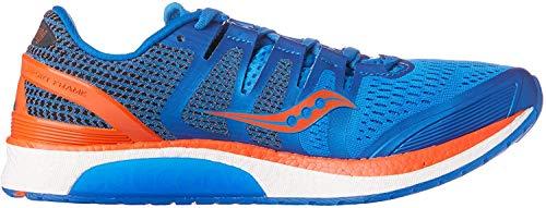Saucony Liberty ISO Zapatillas de Deporte, Hombre, Azul/Naranja, 43 EU