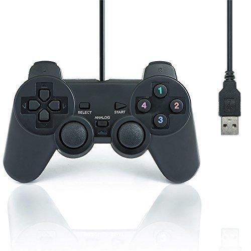 QUMOX Doble Vibración USB Joystick regulador juego